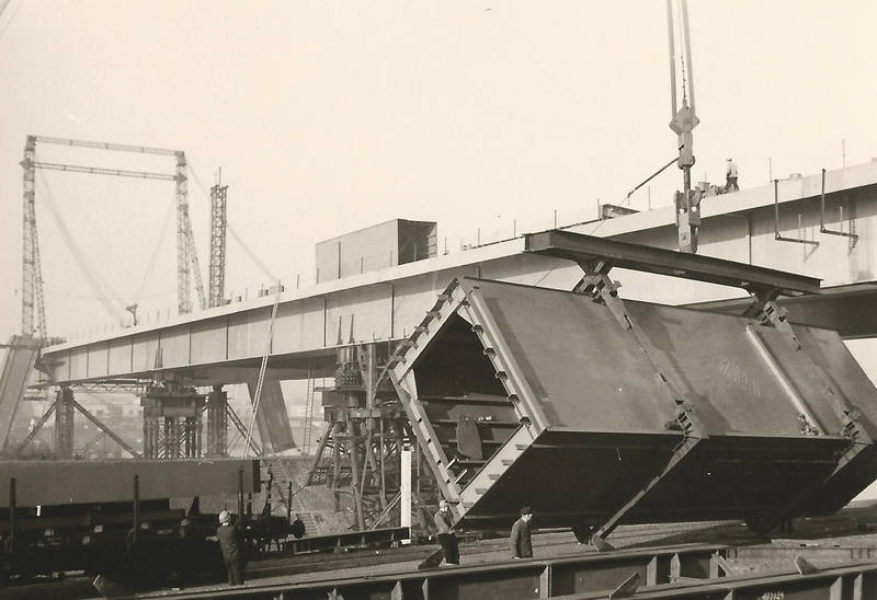 BAuarbeiten, Bauarbeiter, Brückenpfeiler, gerüst, köln, pylon, Severinsbrücke, Stahl, stahlbau