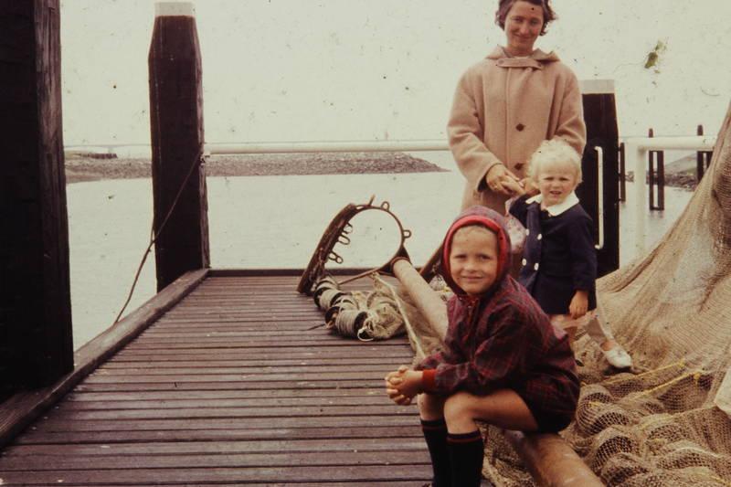 fischen, Kindheit, mantel, netz, Steg