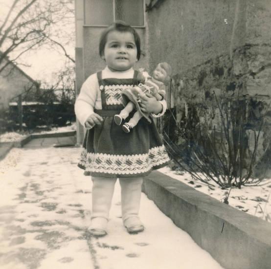 garten, Kindheit, kleid, mode, puppe, schnee, Spielzeug
