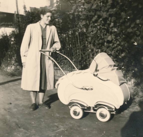 kinderwagen, Kindheit, Mutter, spaziergang