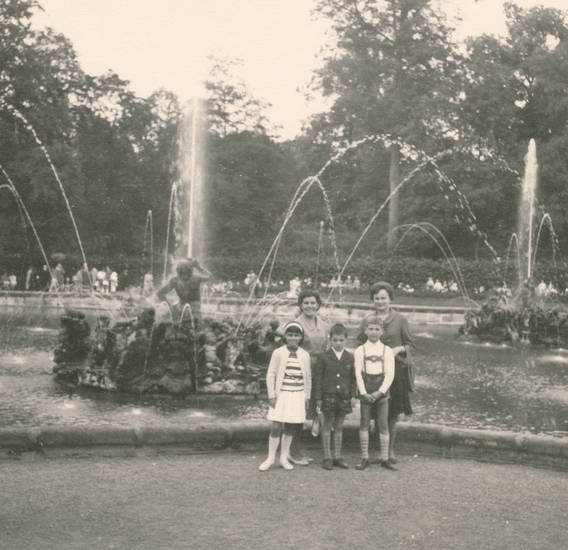 ausflug, Brunnen, familie, Kindheit