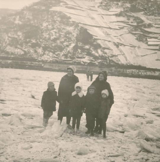 ausflug, Eis, familie, fluss, Frost, Kindheit, schnee, winter