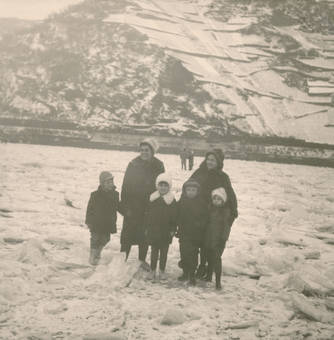 Spaziergang über Eis