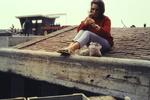 Pistazien essen auf dem Dach