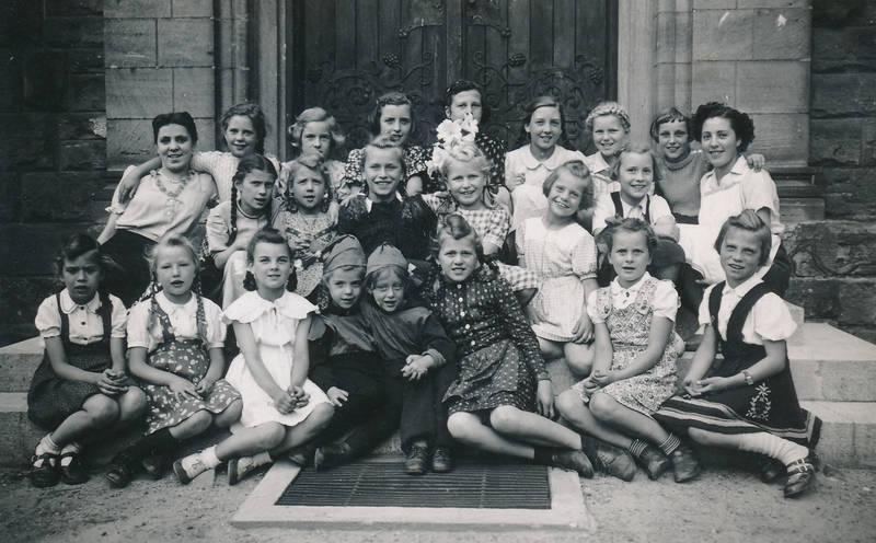 Gruppenbild, Kindheit, Mainz-Kostheim, Pfarrfest