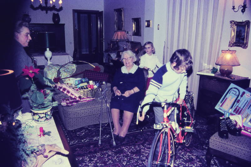 fahrrad, geschenk, sofa, Teppich, Weihnachten