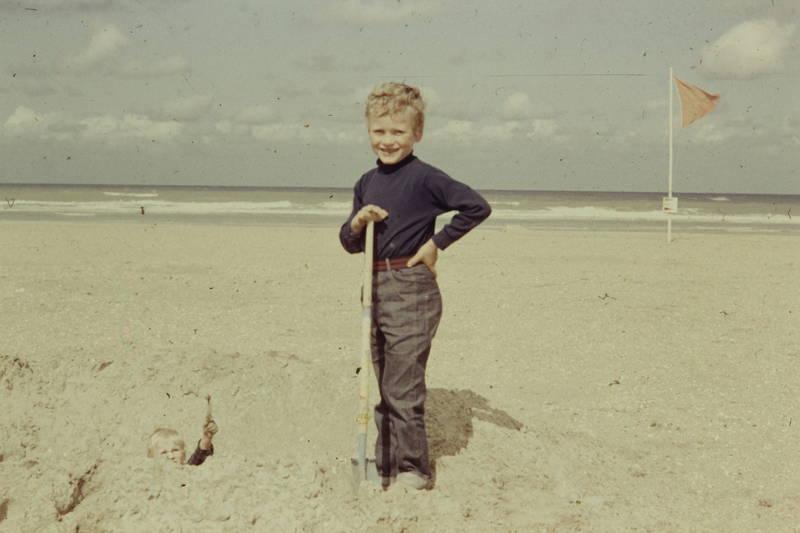 fahne, Kindheit, sand, schaufel, spielen