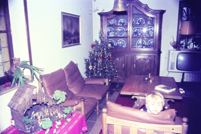 christbaum, couch, Fernseher, Kindheit, Krippe, schrank, sofa, Tannenbaum, tisch, tv, Weihnachtsbaum