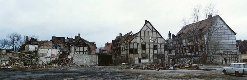 fachwerkhäuser, halberstadt, trümmer