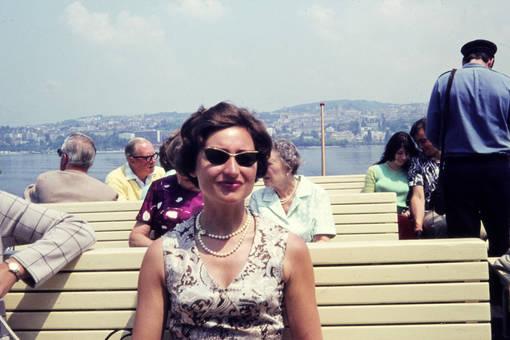 Auf dem Schiff in der Schweiz