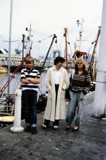 Hafen, mantel, mode, Pullover, schiff, uhr, urlaub