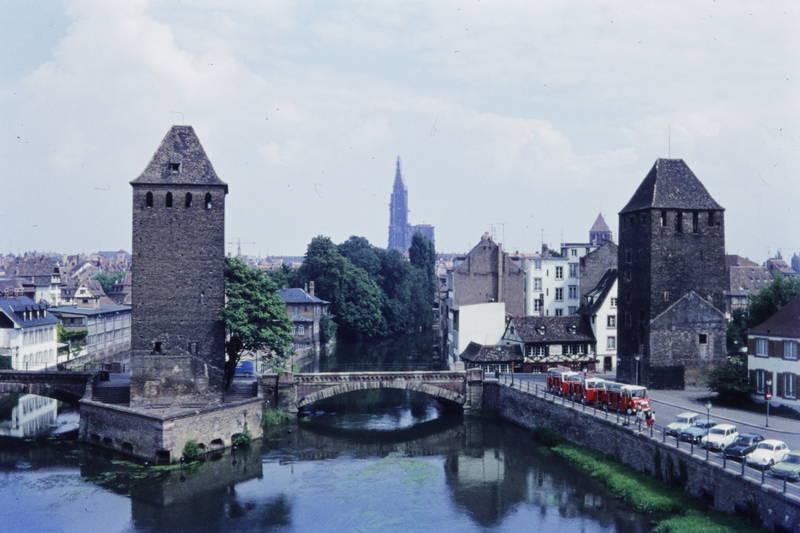 brücke, bus, fluss, Gedeckte Brücken, KFZ, münster, Ponts couverts, stadtbefestigung, turm