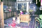 Im Wohnzimmer mit Christbaum