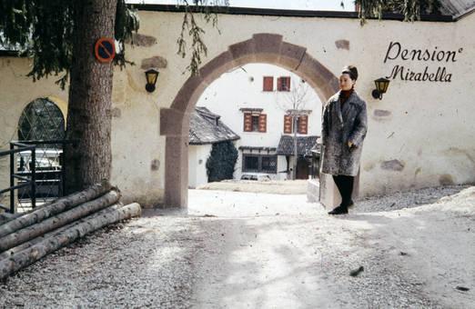 Eingang der Pension Mirabella