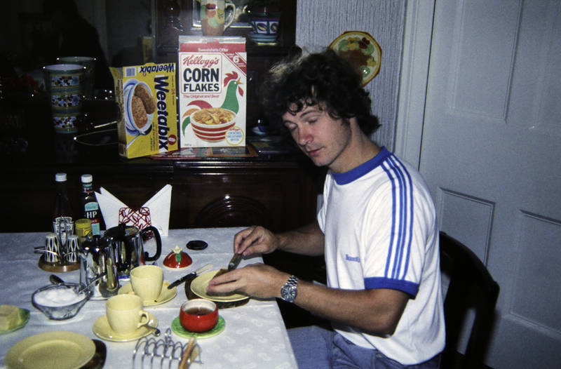Cornflakes, england, frühstück, HP, kellogg's, mahlzeit, Südengland, tee, urlaub, Urlaubsreise, weetabix