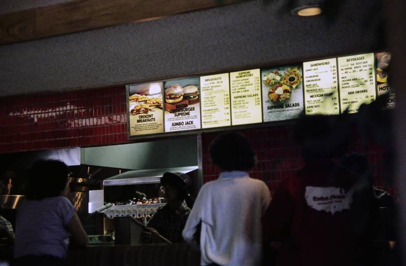 cheeseburger, fastfood, jack in the box, mahlzeit, restaurant, schnellrestaurant, Snack, Speisekarte