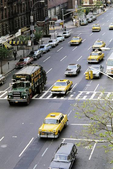 auto, fahrzeug, KFZ, müllabfuhr, Müllwagen, new york, PKW, straße, taxi