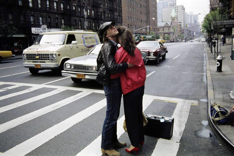 auto, KFZ, Koffer, mode, new york, New York City, Paar, PKW, reise, Umarmung, Urlaubsreise