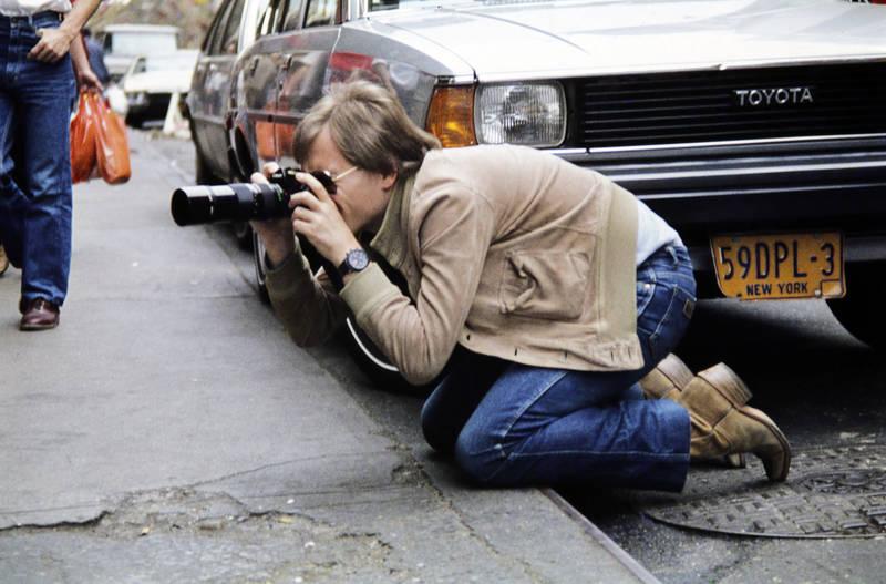 Amerika, auto, Bürgersteig, Fotoapparat, fotograf, Fotografieren, Kamera, KFZ, new york, New York City, PKW, Toyota, urlaub, Urlaubsreise