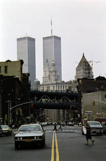 auto, brücke, new york, New York City, PKW, straße, taxi, Twin Towers, World Trade Center