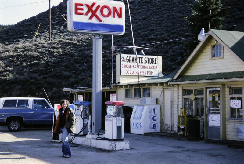 auto, exxon, geschäft, ICE, KFZ, laden, open, PKW, Tankstelle, the granite store