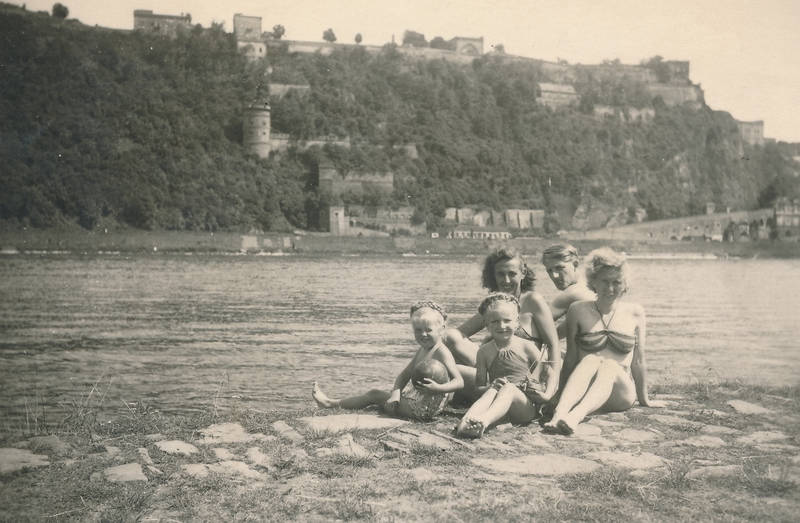 bademode, baden, Festung, Festung Ehrenbreitstein, Koblenz, Mosel, Rheinland-Pfalz, Sommer