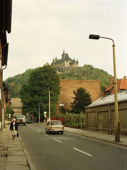 auto, innenstadt, KFZ, PKW, Schloss, Trabant, Wernigerode