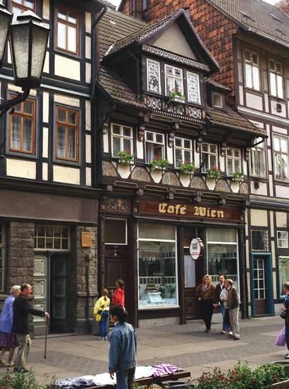 café, Café Wien, Fachwerkhaus, Wernigerode