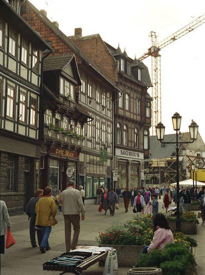 breite straße, café, innenstadt, Kran, möbius, Wernigerode