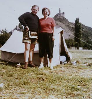 Camping an der Marksburg