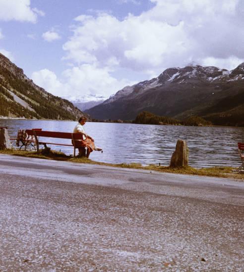 Bank, Malojapass, Schweiz, silsersee, urlaub, Urlaubsreise