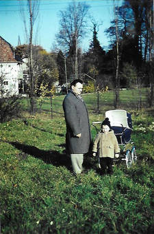 Spaziergang mit Papa