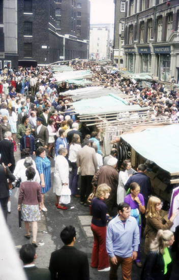 innenstadt, markt, Menschenmenge, stand, straße