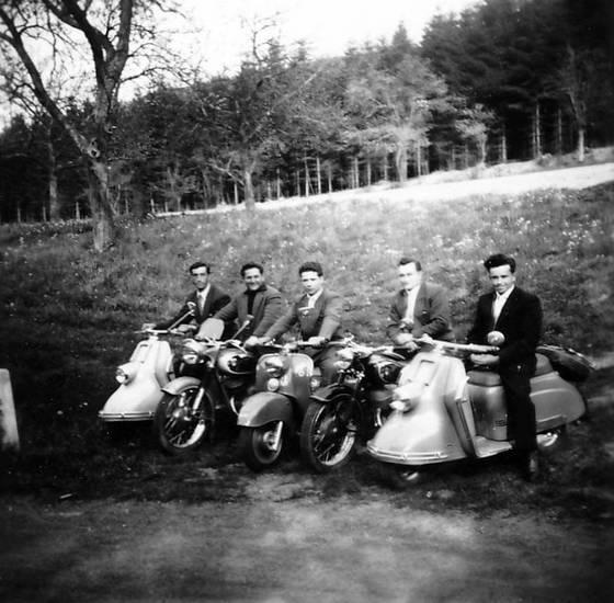 anzug, fahrzeug, mode, Motorroller, Roller