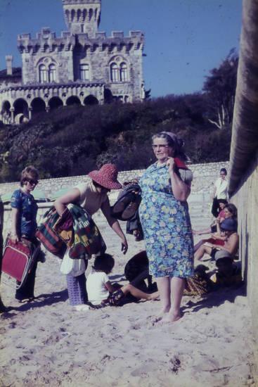 burg, Estoril, kleid, Lissabon, Portugal, Sonnenhut, tamariz, urlaub