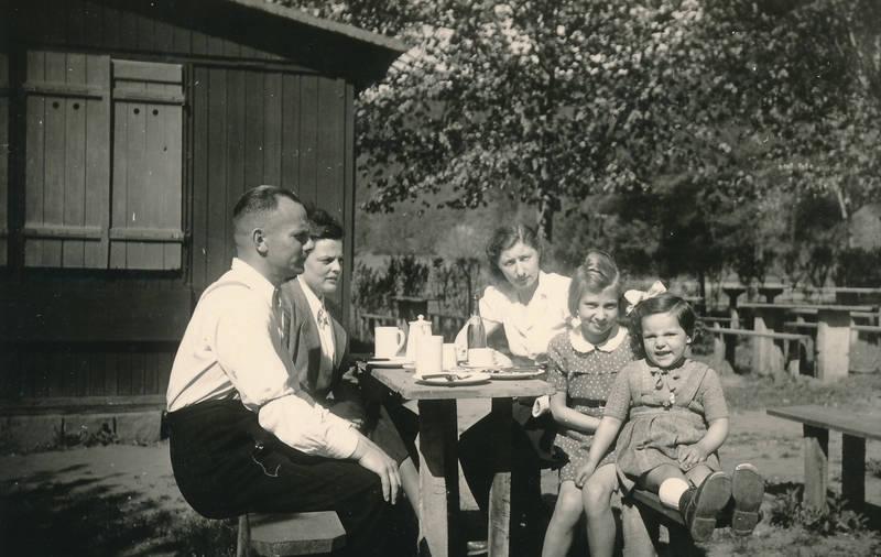 ausflug, familie, Kaffeekanne, Kindheit, picknick, tasse, teekanne