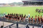Einlauf im Stadion