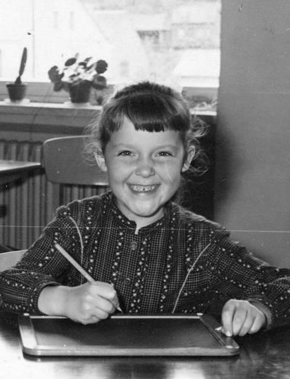 I-Dötzchen, Kindheit, schule, Schulkind, Schultafel, Stift, tafel