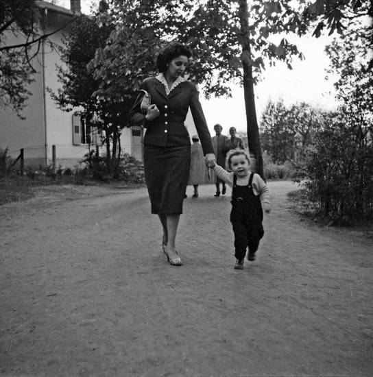familie, Kindheit, mode, spaziergang