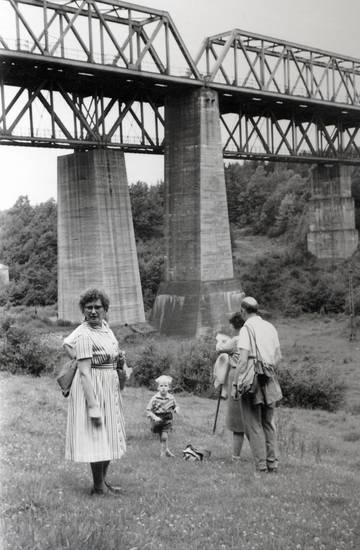 ausflug, belgien, brücke, Eisenbahnbrücke, gras, Hammerbrücke, Hergenrath, Kindheit, rock, Tasche, wandern
