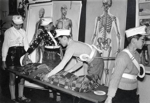 Verletzter auf Trage