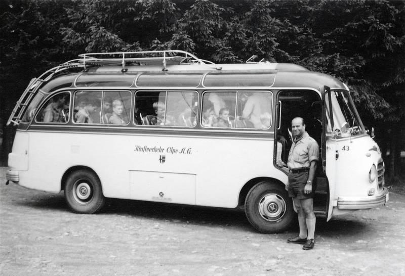 bus, Dachgepäckträger, Hochsauerland, Kindheit, panorama-bus, pfadfinder, Rundfahrt, setra