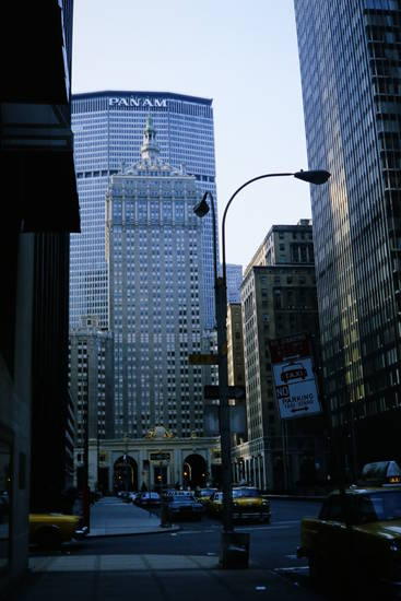 Amerika, auto, helmsley building, KFZ, new york, NY, nyc, Pan Am, pan am building, PKW, taxi, usa, Wolkenkratzer