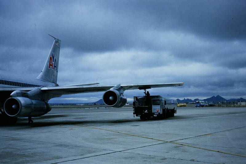 american airlines, B707, boeing, Flügel, Flughafen, flugzeug, kerosin, tankzug