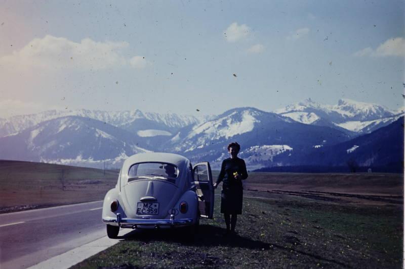 auto, autofahrt, Berge, Bergpanorama, ferien, gipfel, käfer, Kennzeichen, KFZ, mainz, Panorama, PKW, schnee, urlaub, Urlaubsreise, volkswagen, VW-Käfer