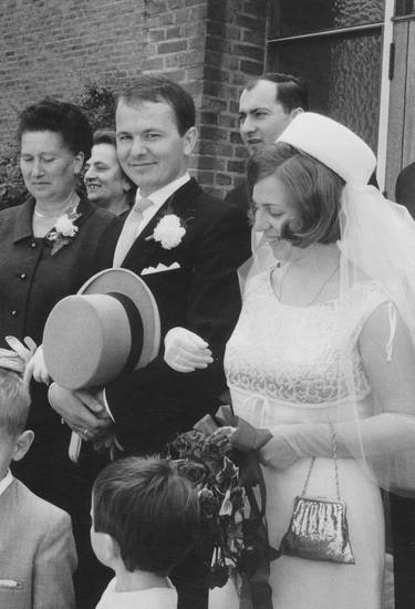 brautkleid, Brautpaar, Handtasche, Hochzeit, hut, kirche, schleier, zylinder