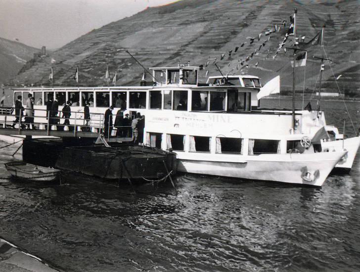 Anleger, Bingen am Rhein, einsteigen, schiff, Schifffahrt