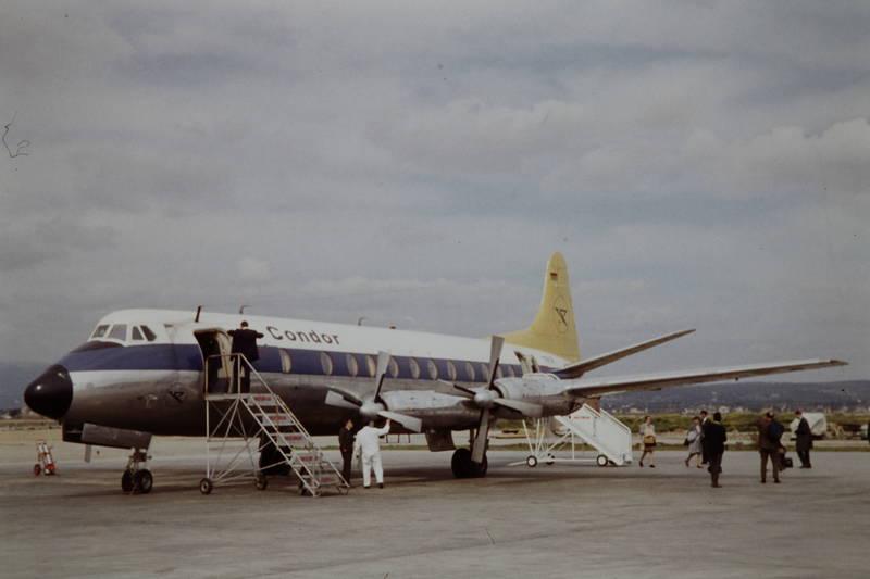condor, flugzeug, Propeller, Treppe, Vickers Viscount