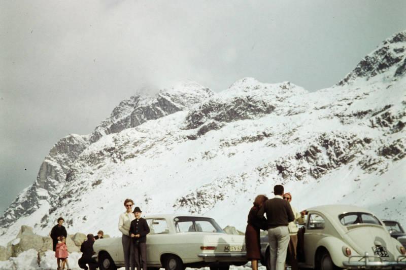 auto, Julierpass, KFZ, Opel, pause, PKW, reise, rekord-a, VW-Käfer