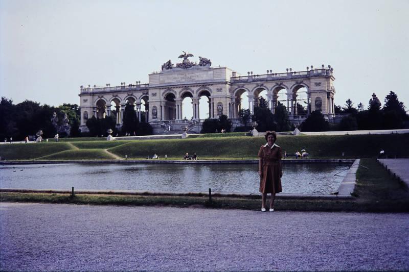 ausflug, Brunnen, Gloriette, kleid, Schlosspark, Schönbrunn